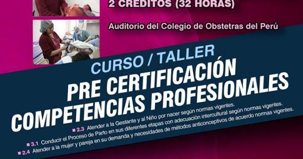 Curso Taller:   Pre-Certificación de Competencias Profesionales. SÁBADO 16 y DOMINGO 17 DE DICIEMBRE