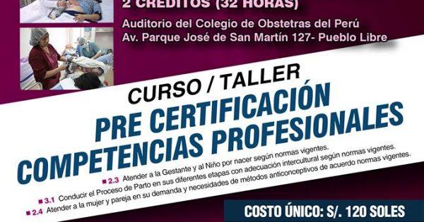 CURSO TALLER PRE CERTIFICACIÓN COMPETENCIAS PROFESIONALES. 17 Y 18 DE FEBRERO DE 2018