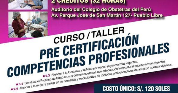 Curso/Taller: Pre Certificación de Competencias Profesionales. DÍAS: Sábado 21 y Domingo 22 de julio de 2018