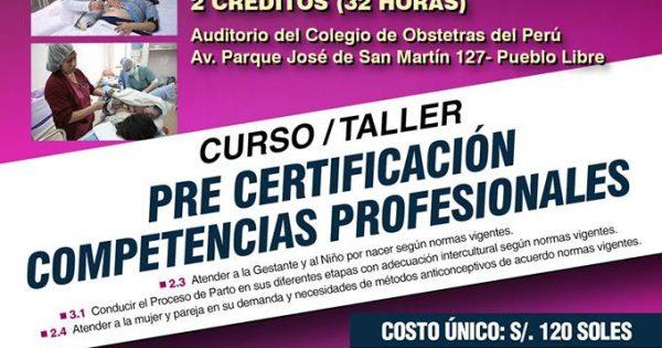 Curso/Taller: Pre Certificación Competencias Profesionales. Fecha: 25 y 26 de agosto