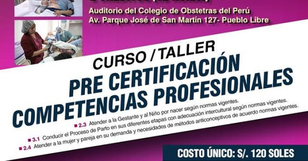 CURSO – TALLER «PRE CERTIFICACIÓN DE COMPETENCIAS PROFESIONALES»