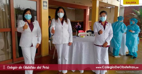 Hoy, 130 obstetras de Lima Provincias Norte están recibiendo la primera dosis de la vacuna