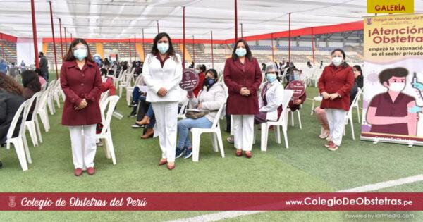 Se desarrolló con éxito la vacunación de obstetras del sector privado de Lima y Callao