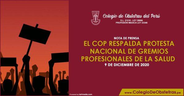 EL COP RESPALDA PROTESTA NACIONAL DE GREMIOS PROFESIONALES DE LA SALUD