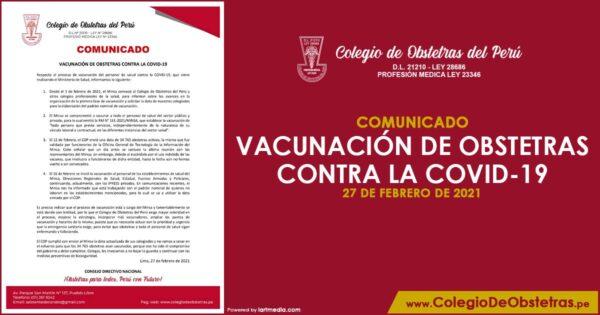 VACUNACIÓN DE OBSTETRAS CONTRA LA COVID-19