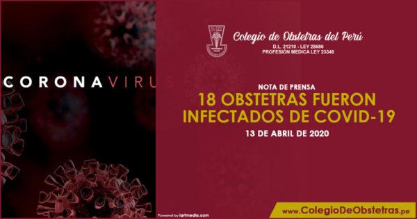 NOTA DE PRENSA – 18 OBSTETRAS FUERON INFECTADOS DE COVID-19