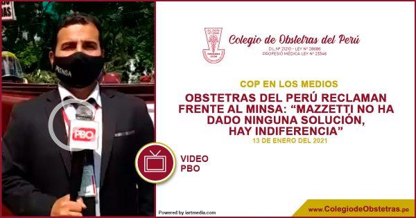 """OBSTETRAS DEL PERÚ RECLAMAN FRENTE AL MINSA: """"MAZZETTI NO HA DADO NINGUNA SOLUCIÓN, HAY INDIFERENCIA"""