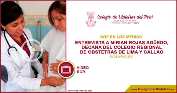 La decana regional del CRO Lima-Callao, estuvo hoy en RCR para dar a conocer los detalles del plantón frente al Congreso