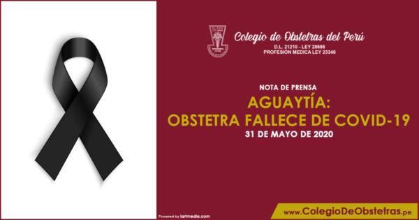 AGUAYTÍA: OBSTETRA FALLECE DE COVID-19