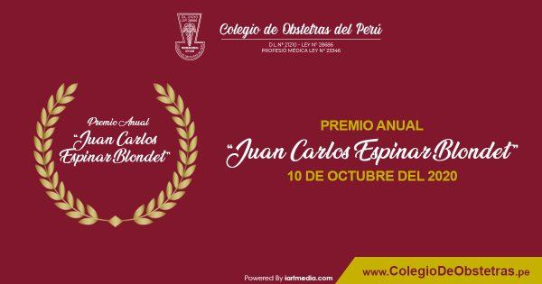 """PREMIO ANUAL """"JUAN CARLOS ESPINAR BLONDET"""""""