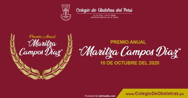 "PREMIO ANUAL ""MARITZA CAMPOS DÍAZ"""