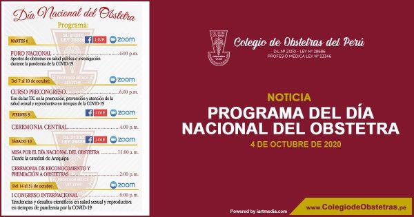 PROGRAMA DEL DÍA NACIONAL DEL OBSTETRA