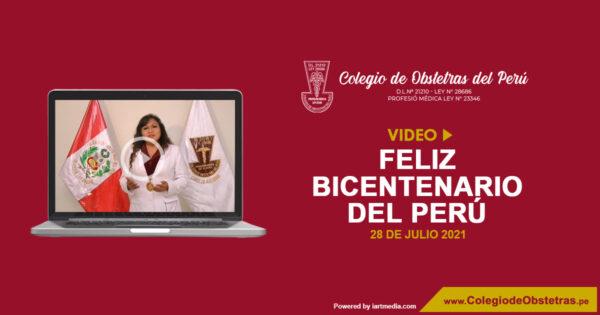 Afectuoso saludo a la población peruana, por conmemorarse este 28 de julio 200 años de la Independencia