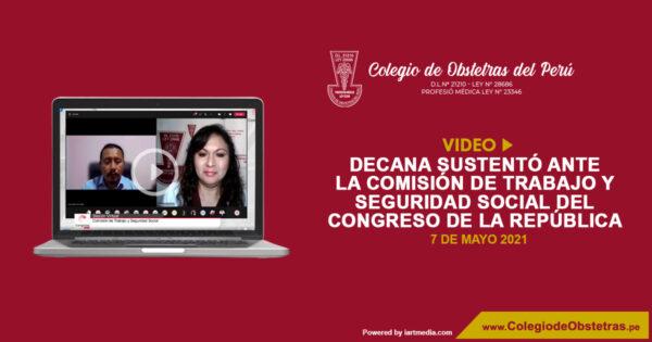 La decana Margarita Pérez Silva sustentó ante la Comisión de Trabajo y Seguridad Social del Congreso de la República