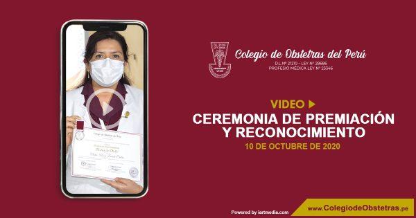 VIDEO: CEREMONIA DE PREMIACIÓN Y RECONOCIMIENTO