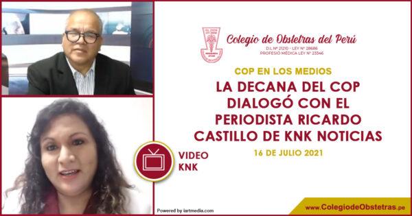 La decana del COP dialogó con el periodista Ricardo Castillo de KNK Noticias