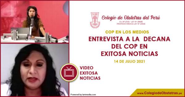 Entrevista a la  Decana del COP en Exitosa Noticias