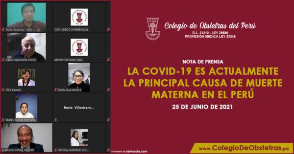 La COVID-19 es actualmente la principal causa de muerte materna en el Perú