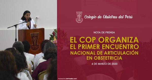 EL COP ORGANIZA EL PRIMER ENCUENTRO NACIONAL DE ARTICULACIÓN DE OBSTETRICIA
