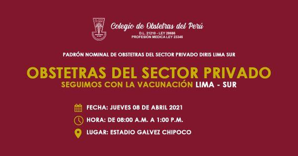 PADRÓN NOMINAL DE OBSTETRAS DEL SECTOR PRIVADO DIRIS LIMA SUR