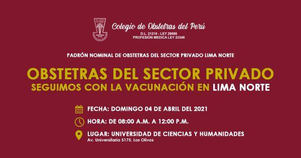 PADRÓN NOMINAL DE OBSTETRAS DEL SECTOR PRIVADO DIRIS LIMA NORTE