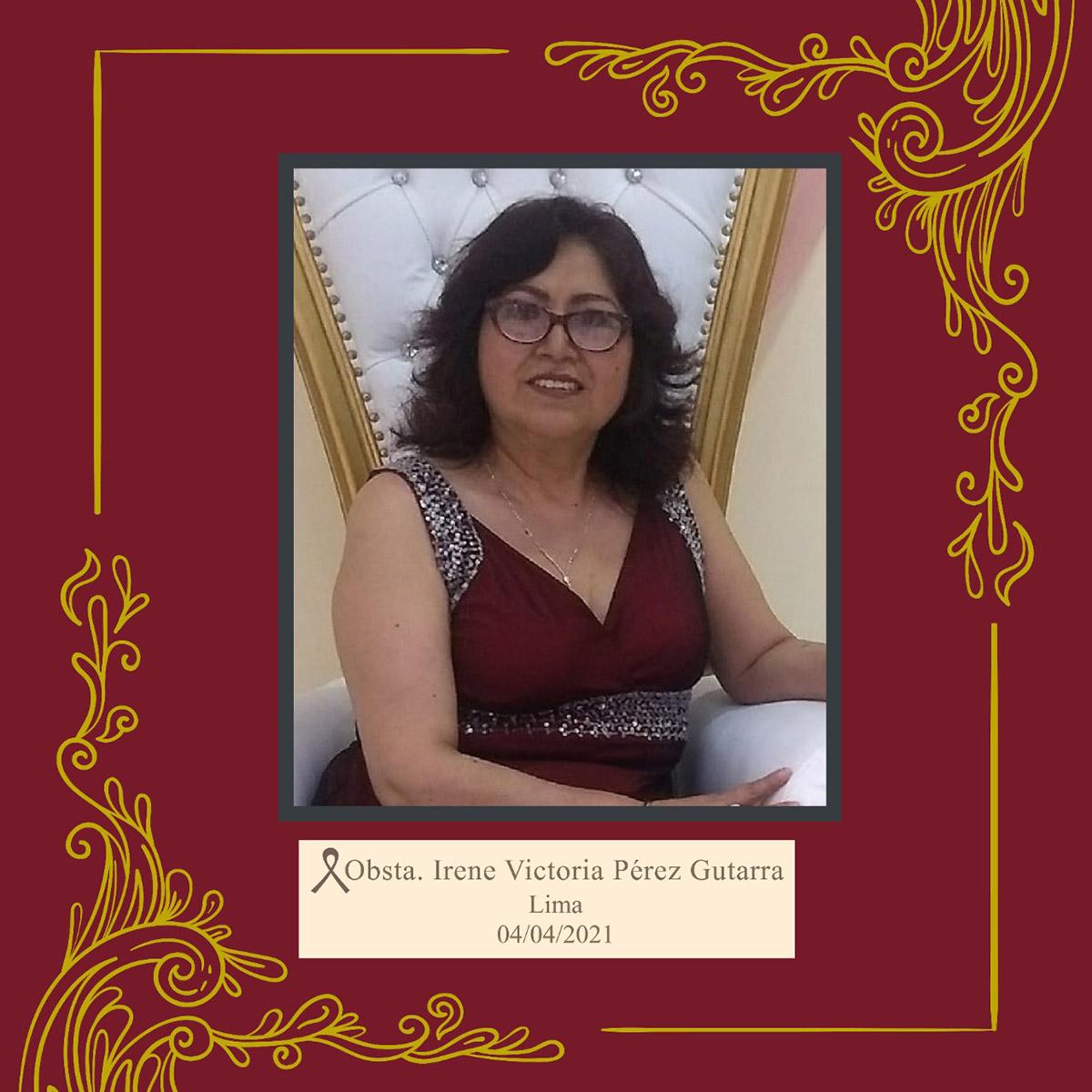 Irene Victoria Pérez Gutarra