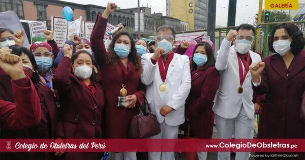 Obstetras de todas las regiones del Perú llegaron a Lima