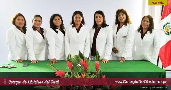 JURAMENTACIÓN DE LA NUEVA JUNTA DIRECTIVA DEL SINDICATO DE OBSTETRAS DE RÍMAC