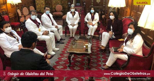 La decana nacional del COP e integrantes del Consejo Nacional fueron recibidos por el primer vicepresidente del congreso