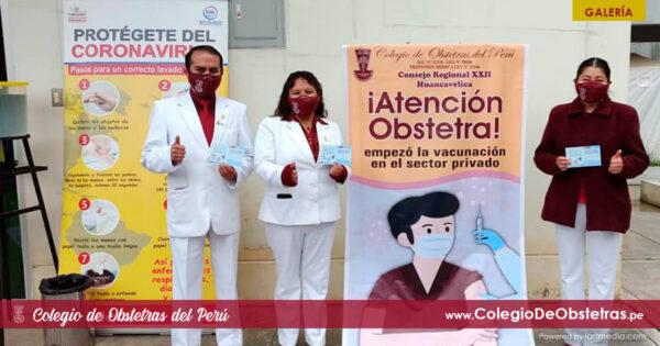 Obstetras de la práctica privada de la región Huancavelica recibieron la primera dosis de la vacuna contra la COVID-19