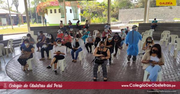 Obstetras de la práctica privada recibieron la segunda dosis de la vacuna contra la COVID-19 en Lima Este