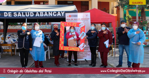 Obstetras de la Red de Salud Abancay participaron en exitosa vacunación de mujeres embarazadas