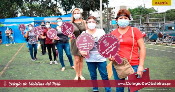 Obstetras del sector privado de Lima Sur recibieron la primera dosis de la vacuna contra la COVID-19