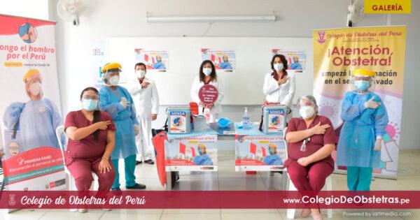 Obstetras de la práctica privada de Lima Norte recibieron la primera dosis de la vacuna contra la COVID-19