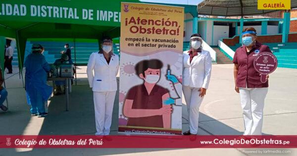 77 obstetras de Yauyos, Cañete y Huarochirí reciben hoy la primera dosis de la vacuna contra la COVID-19
