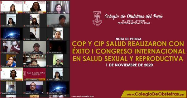 COP Y CIP SALUD REALIZARON CON ÉXITO I CONGRESO INTERNACIONAL EN SALUD SEXUAL Y REPRODUCTIVA