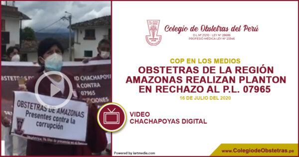 La decana regional del CRO Amazonas, manifestó su total rechazo a la manera irregular en que se aprobó el predictamen del PL N° 07965