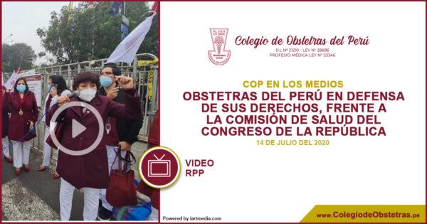 Obstetras realizaron un plantón frente al Congreso