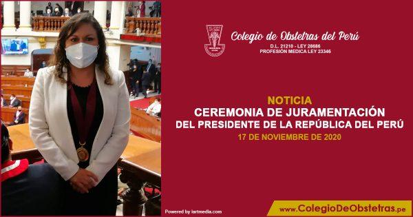 CEREMONIA DE JURAMENTACIÓN DEL PRESIDENTE DE LA REPÚBLICA DEL PERÚ