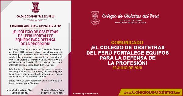 ¡EL COLEGIO DE OBSTETRAS DEL PERÚ FORTALECE EQUIPOS PARA LA DEFENSA DE LA PROFESIÓN!