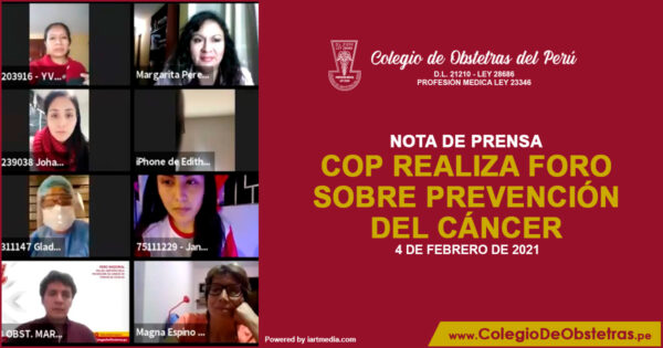 COP REALIZA FORO SOBRE PREVENCIÓN DEL CANCER