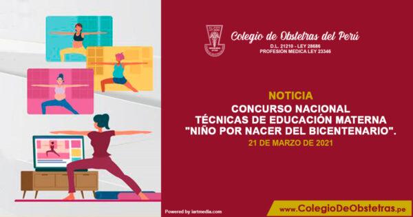 "Técnicas de educación materna ""Niño por Nacer del Bicentenario"""
