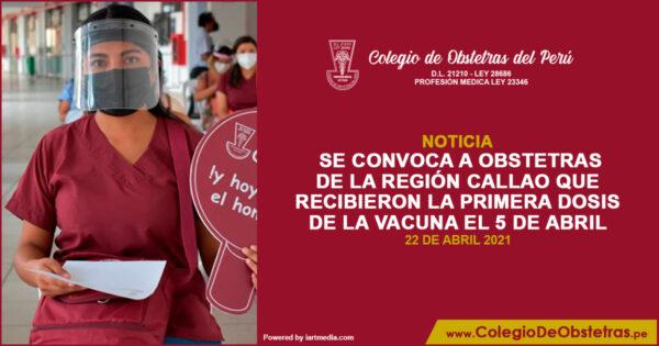 Aplicación de la segunda dosis de la vacuna en el Callao