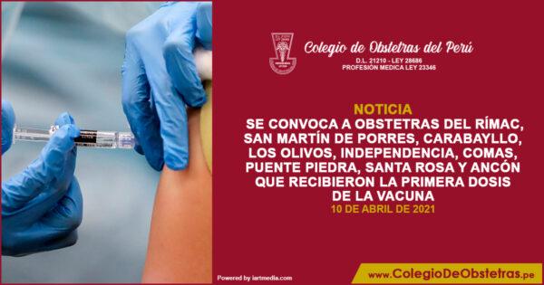 Vacunación contra la COVID a profesionales de la Salud