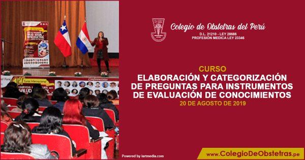 ELABORACIÓN Y CATEGORIZACIÓN DE PREGUNTAS PARA INSTRUMENTOS DE EVALUACIÓN DE CONOCIMIENTOS