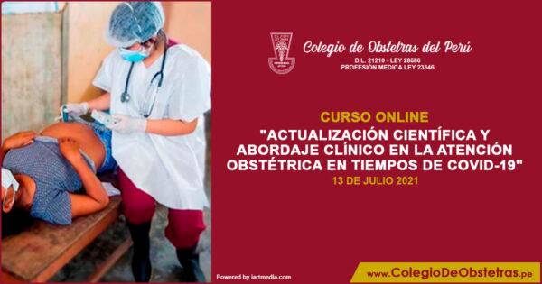 """Curso """"Actualización científica y abordaje clínico en la atención obstétrica en tiempos de COVID-19"""""""