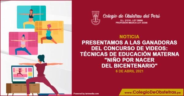 """Ganadoras del concurso: Técnicas de Educación Materna """"Niño por Nacer del Bicentenario"""""""