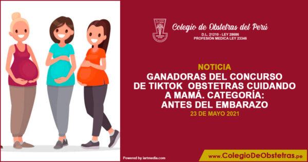 Ganadora del concurso de TikTok  Obstetras Cuidando a Mamá – Antes del embarazo