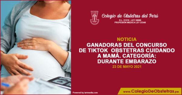 Ganadoras del concurso de TikTok  Obstetras Cuidando a Mamá – Durante del embarazo