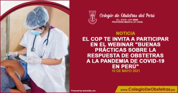 """Webinar """"Buenas prácticas sobre la respuesta de obstetras a la pandemia de COVID-19 en Perú"""""""